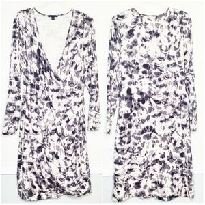 BANANA REPUBLIC | Long Sleeve Wrap Print Dress
